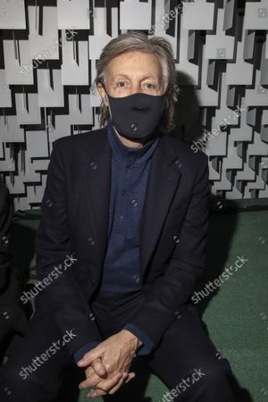 Stock Image of Paul McCartney attends the Stella McCartney Spring-Summer 2022 ready-to-wear fashion show presented in Paris