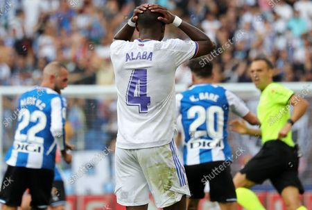 David Alaba during the match between RCD Espanyol and Real Madrid CF, corresponding to the week 8 of the Liga Santander, played at the RCDE Stadium, on 03th October 2021, in Barcelona, Spain. Photo: Joan Valls/Urbanandsport/NurPhoto --