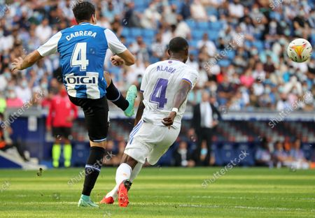 Leandro Cabrera and David Alaba during the match between RCD Espanyol and Real Madrid CF, corresponding to the week 8 of the Liga Santander, played at the RCDE Stadium, on 03th October 2021, in Barcelona, Spain. Photo: Joan Valls/Urbanandsport/NurPhoto --