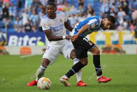 Oscar Gil and David Alaba during the match between RCD Espanyol and Real Madrid CF, corresponding to the week 8 of the Liga Santander, played at the RCDE Stadium, on 03th October 2021, in Barcelona, Spain. Photo: Joan Valls/Urbanandsport/NurPhoto --