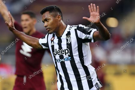 Alex Sandro of Juventus Fc gestures during the Serie A match between Torino Fc and Juventus Fc.