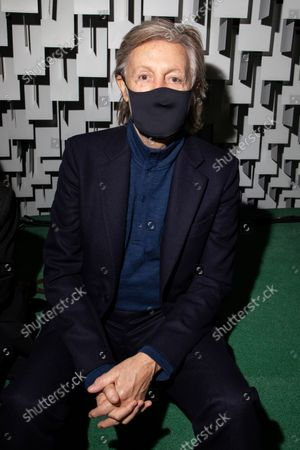 Stock Picture of Paul McCartney attends the Stella McCartney Spring-Summer 2022 ready-to-wear fashion show presented in Paris