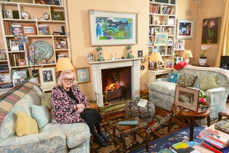 Stock Photo of Lady Antonia Fraser 'My Haven' - Drawing Room