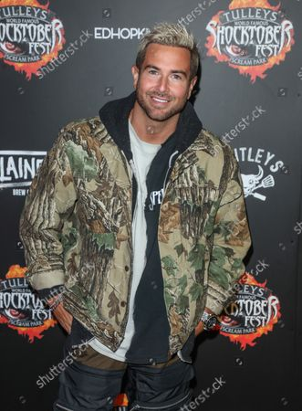 Stock Photo of Aaron Renfree attends the opening night of Shocktoberfest 2021 at Tulley's Farm in Crawley.
