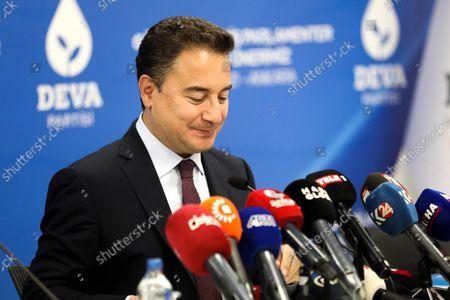 Editorial photo of DEVA Chairman Ali Babacan at a press conference in Ankara, Turkey - 04 Oct 2021