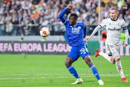 Editorial image of Legia Warsaw Vs Leicester City FC in Warsaw, Poland - 30 Sept 2021