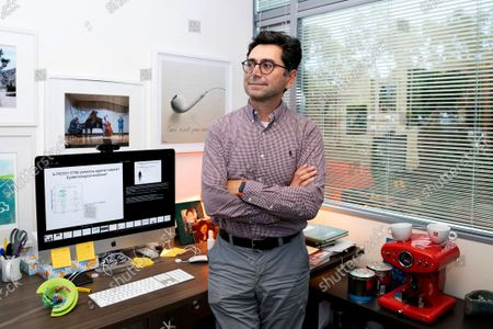 Ardem Patapoutian poses for a portrait in his office at the Dorris Neuroscience Center, in San Diego. Two scientists, Americans Patapoutian and David Julius, won the Nobel Prize in medicine for their discoveries into how the human body perceives temperature and touch