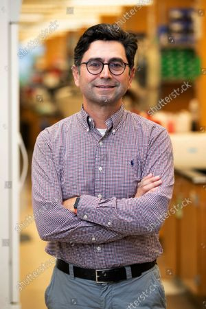 Ardem Patapoutian poses for a portrait in his lab at the Dorris Neuroscience Center, in San Diego. Two scientists, Americans Patapoutian and David Julius, won the Nobel Prize in medicine for their discoveries into how the human body perceives temperature and touch