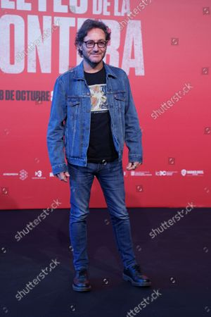 Stock Image of Carlos Santos attends the photocall of the premiere ''Las Leyes De La Frontera '' at the Kinepolis cinema in Madrid.