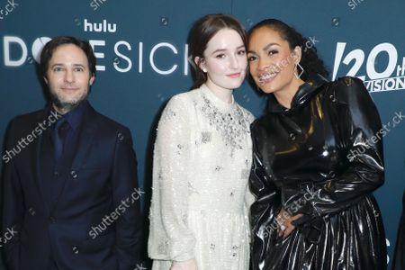 Danny Strong, Kaitlyn Dever and Rosario Dawson