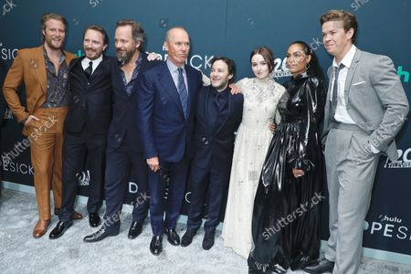 Jake McDorman, John Hoogenakker, Peter Sarsgaard, Michael Keaton, Kaitlyn Dever, Rosario Dawson and Will Poulter