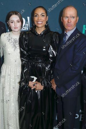 Kaitlyn Dever, Rosario Dawson and Michael Keaton