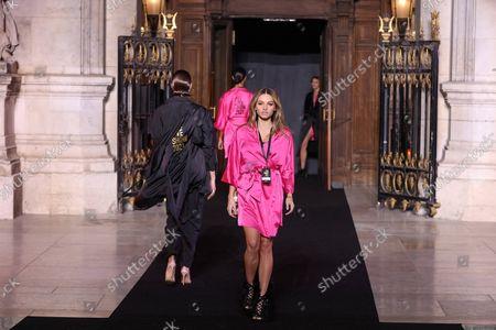 Thylane Blondeau on the catwalk