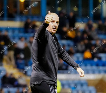 Paul Cook Ipswich Town Manager gives the thumbs up