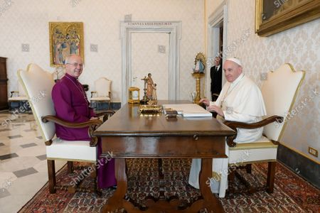 Pope Francis receives His Grace Justin Welby, Archbishop of Canterbury at the Vatican.