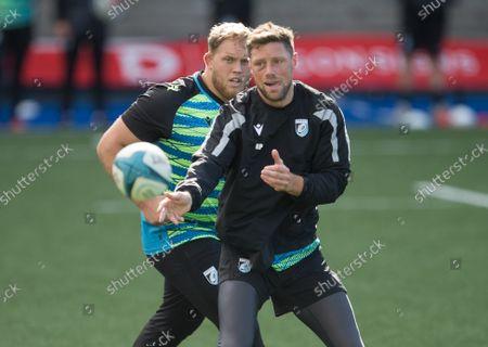 Rhys Priestland during a Cardiff Rugby training session