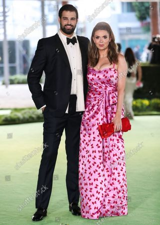 Jacob Andreou and Carly Steel arrive at the Academy Museum of Motion Pictures Opening Gala held at the Academy Museum of Motion Pictures on September 25, 2021 in Los Angeles, California, United States.