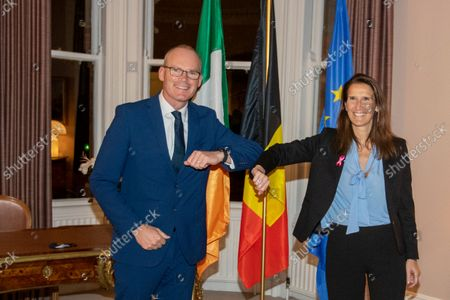 Stock Photo of Irish Foreign Minister Simon Coveney and Belgian Foreign Minister Sophie Wilmes pictured during a work meeting on the first day of the official visit of the Belgian Foreign Minister to Ireland and the United Kingdom, Tuesday 05 October 2021.