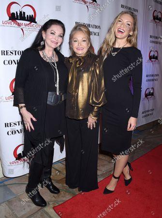 Stock Image of Crystal Gayle, Charlene Tilton and Cherish Lee