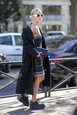 Stock Image of Caroline Daur outside Miu Miu