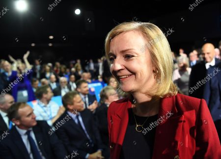 Britain's Foreign Secretary Liz Truss arrives on day four of the Conservative party Conference in Manchester, Britain, 06 October 2021. The Conservative Party conference ends today.
