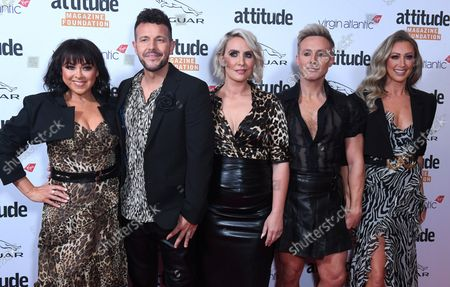 """Lisa Scott-Lee, Lee Latchford-Evans, Claire Richards, Ian """"H"""" Watkins and Faye Tozer from Steps"""