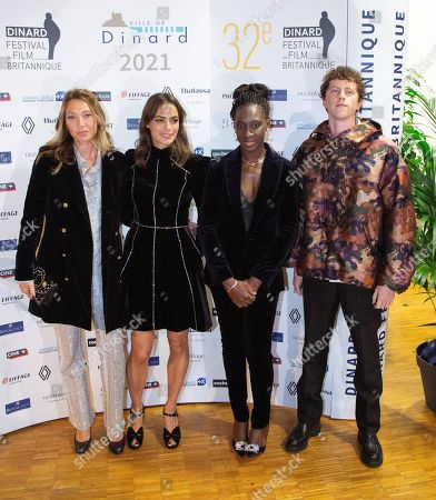 Berenice Bejo, Laura Smet, Eye Haidara, Finnegan Oldfield at the photocall for the closing ceremony of the 32nd Dinard Festival at the Palais des Arts