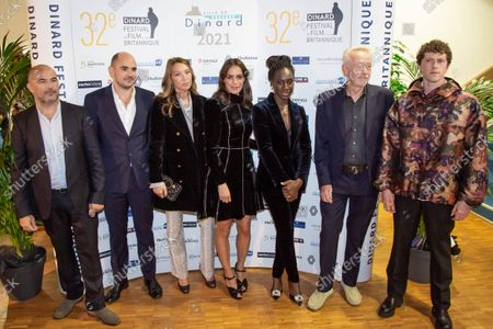 Berenice Bejo, Jean des Forests, Eye Haidara, Mohamed Hamidi, Finnegan Oldfield, Laura Smet, Paul Webster during the photocall of the closing ceremony