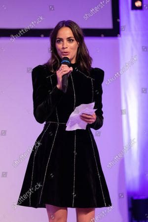 Stock Picture of The president of the jury Berenice Bejo at the Festival Palace for the closing ceremony