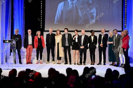 Jury members Eye Haidara, Paul Webster, Berenice Bejo, Mohamed Hamidi, Laura Smet, Jean des Forets, Finnegan Oldfield