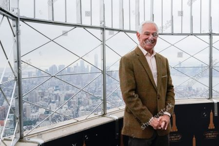 Former New York Mets manager and Stamford Mayoral Candidate Bobby Valentine poses for photographers on the 86th floor observatory at the Empire State Building, in New York