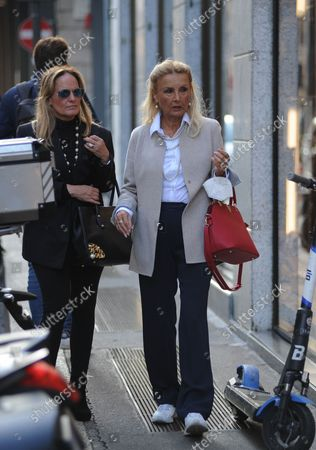 Editorial image of Barbara Bouchet out and about, Milan, Italy - 30 Sep 2021