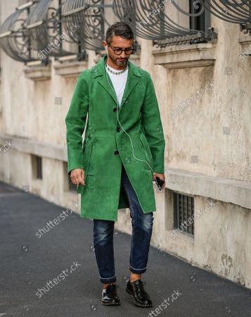 Editorial picture of Street Style, Spring Summer 2022, Milan Fashion Week, Milan, Italy - 24 Sep 2021