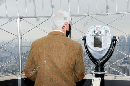 """Bobby Valentine is seen viewing the city skyline. Former New York Mets baseball player and manager, Stamford mayoral candidate, Bobby Valentine visits the Empire State Building to honor """"Answer The Call"""" NYPD & NYFD Children's Benefit Fund, in New York City."""