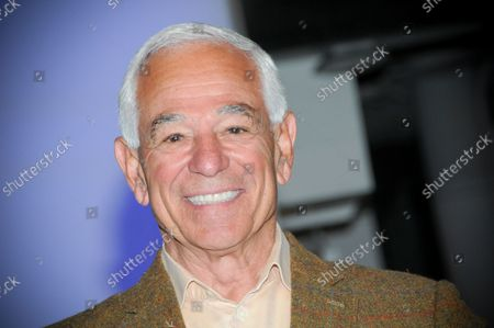 """Bobby Valentine poses for photos at the Grand Staircase. Former New York Mets baseball player and manager, Stamford mayoral candidate, Bobby Valentine visits the Empire State Building to honor """"Answer The Call"""" NYPD & NYFD Children's Benefit Fund, in New York City."""