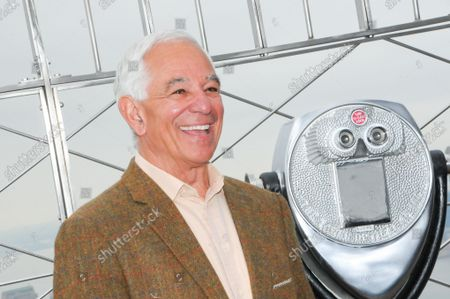 """Stock Image of Bobby Valentine poses for photos at the 86th floor observatory of the Empire State Building. Former New York Mets baseball player and manager, Stamford mayoral candidate, Bobby Valentine visits the Empire State Building to honor """"Answer The Call"""" NYPD & NYFD Children's Benefit Fund, in New York City."""