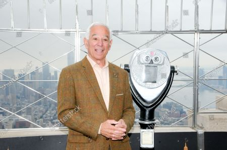 """Stock Photo of Bobby Valentine poses for photos at the 86th floor observatory of the Empire State Building. Former New York Mets baseball player and manager, Stamford mayoral candidate, Bobby Valentine visits the Empire State Building to honor """"Answer The Call"""" NYPD & NYFD Children's Benefit Fund, in New York City."""