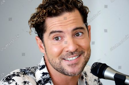 Stock Image of David Bisbal speaks during a press conference in San Juan, Puerto Rico, 06 October 2021. Bisbal will perform a concert as part of his tour 'En Tus Planes' (In your plans) in San Juan on 08 October 2021.