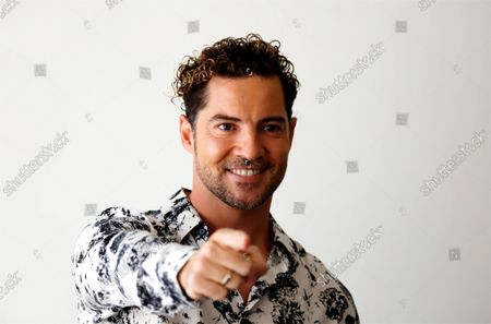 David Bisbal poses for the media during a press conference in San Juan, Puerto Rico, 06 October 2021. Bisbal will perform a concert as part of his tour 'En Tus Planes' (In your plans) in San Juan on 08 October 2021.