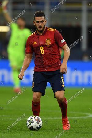 "Koke Jorge Resurreccion Merodio (Spain)                       during the Uefa ""Nations League 2020-2021"" match between Italy 1-2 Spain   at Giuseppe Meazza Stadium in Milano, Italy."
