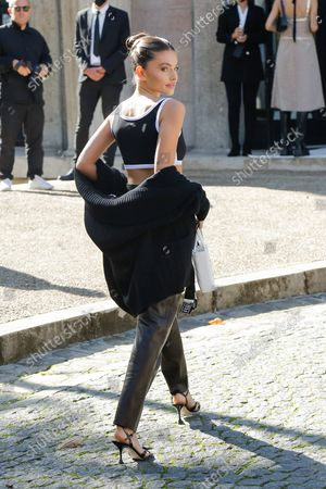 Editorial photo of Miu Miu show, Arrivals, Spring Summer 2022, Paris Fashion Week, France - 05 Oct 2021