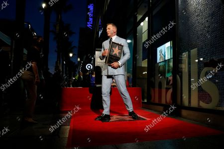 Daniel Craig attends the Hollywood Walk of Fame ceremony in his honor in Los Angeles, California, USA, 06 October 2021.
