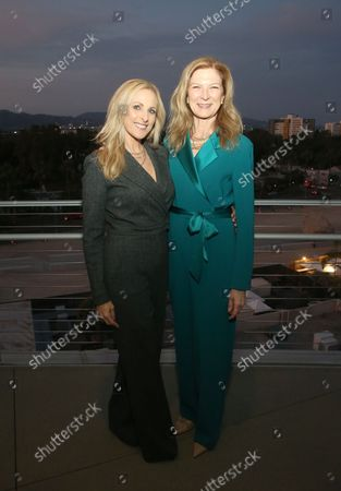 Marlee Matlin And Dawn Hudson, at the 2021 WIF Honors Celebrating Trailblazers Of The New Normal at the Academy Museum of Motion Pictures in Los Angeles, California