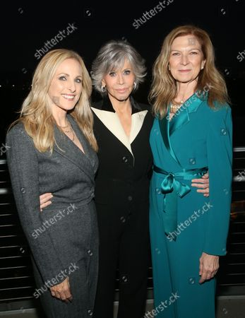 Marlee Matlin, Jane Fonda And Dawn Hudson, at the 2021 WIF Honors Celebrating Trailblazers Of The New Normal at the Academy Museum of Motion Pictures in Los Angeles, California