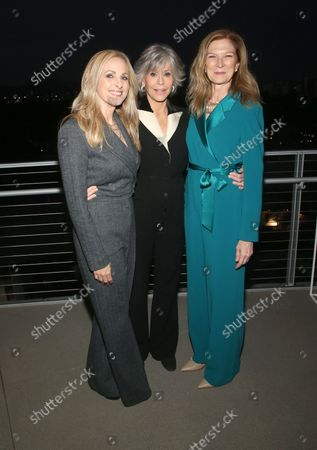 Stock Photo of Marlee Matlin, Jane Fonda And Dawn Hudson, at the 2021 WIF Honors Celebrating Trailblazers Of The New Normal at the Academy Museum of Motion Pictures in Los Angeles, California