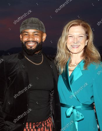 Shawn Finnie, Dawn Hudson, at the 2021 WIF Honors Celebrating Trailblazers Of The New Normal at the Academy Museum of Motion Pictures in Los Angeles, California