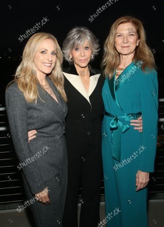 Stock Image of Marlee Matlin, Jane Fonda And Dawn Hudson, Chief Executive Officer of the Academy of Motion Picture Arts and Sciences, at the 2021 WIF Honors Celebrating Trailblazers Of The New Normal at the Academy Museum of Motion Pictures