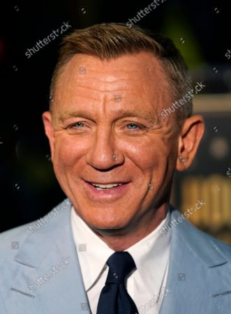 Actor Daniel Craig is interviewed following a ceremony to award him a star on the Hollywood Walk of Fame, in Los Angeles