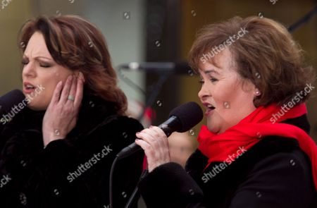 Stock Picture of Amber Stassi and Susan Boyle