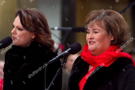 Stock Image of Amber Stassi and Susan Boyle